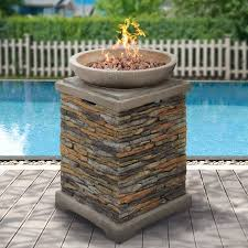 Rock Firepit Best Choice Products Outdoor Bowl Firepit With Lava Rocks