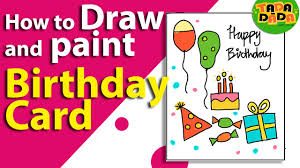 how to make an easy birthday card birthday greeting card