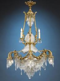 Antique Baccarat Chandelier Empire Style Bronze Chandelier A Large And