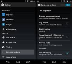 android developer options how to enable developer options on the nexus 5 kitkat