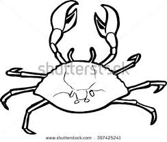 quirky drawing of a crab stock vector vbs pinterest
