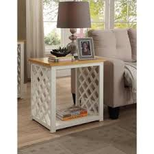 Pine End Tables Convenience Concepts Cape Cod White And Pine End Table 510045
