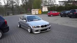 bmw 328i slammed stanced e46 328ci free exhaust youtube