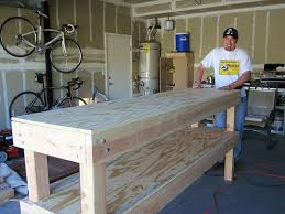 Easy Wood Workbench Plans by Build A Bench Easy I Like Easy I Ended Up Using 2x4 U0027s For The