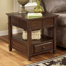 signature design by ashley end table gately end table with hidden storage electrical outlet by