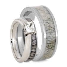 deer antler wedding rings u2013 jewelry