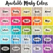 color combination with white minky blanket name only color combination with white background