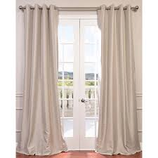 Blackout Drapes Antique Beige 108 X 50 Inch Grommet Blackout Faux Silk Taffeta