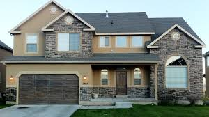 backgrounds one house exterior design in two color combinations