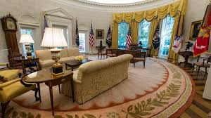 Trump Oval Office Redecoration | spot the change in president trump s oval office the atlantic