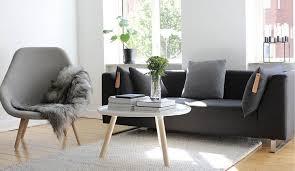 idee deco salon canap gris decoration déco scandinave salon canape gris graphite fauteuil bois