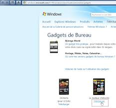 windows gadgets de bureau installer un gadget à partir de microsoft com