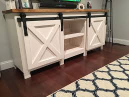 how to build a tv cabinet free plans build a tv stand or media console with these free plans barn doors
