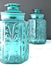 kitchen canisters glass turquoise kitchen canister set turquoise kitchen canister set 6
