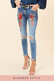 Light Wash Ripped Skinny Jeans Cora Light Wash Embroidered Skinny Jeans