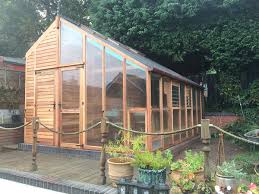 combo shed and greenhouse by woodpecker joinery greenhouses