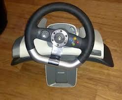 xbox 360 steering wheel microsoft xbox 360 racing steering wheel wireless no pedals wheel