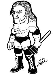 triple h coloring pages coloring home