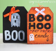 cute diy halloween door sign sweet anne designs