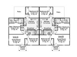 Multi Family Home Floor Plans Duplex House Plans One Story Multi Family Home Plan 001m 0005
