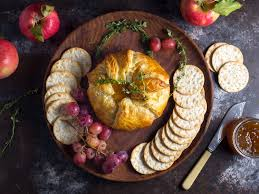 baked brie en croûte with thyme and fig jam recipe serious eats