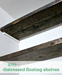 diy how to fudge reclaimed floating shelves hi sugarplum