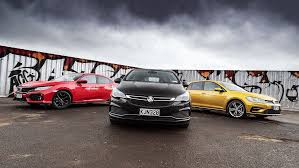 holden hatchback holden astra vs vw golf r vs honda civic comparison review roadtest