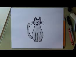 how to draw a cat easy drawing tutorial for kids youtube