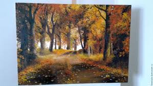 buy oil painting autumn gold vladimir chernov on livemaster online