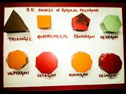 maths model 3d shapes polygons polyhedrons easy to make