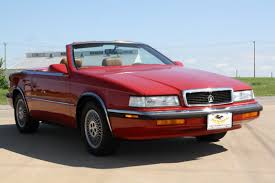red maserati convertible 1989 chrysler tc convertible 2 seater coupe by maserati sold