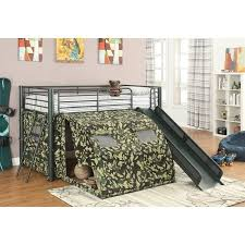Slide Bunk Bed Zoe S Furniture Coaster Oates Size Metal Loft Bed With