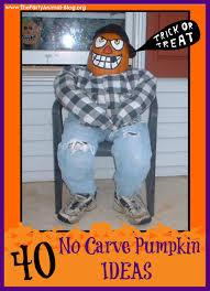 easy pumpkin carving ideas kids 40 easy and creative no carve pumpkin ideas thepartyanimal blog