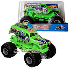 rc monster trucks grave digger wheels year 2016 monster jam 1 24 scale die cast truck green
