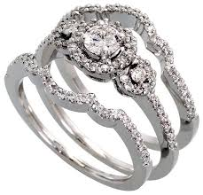 Wedding Ring Sets For Him And Her White Gold by 3 Piece Wedding Ring Sets Laura Williams