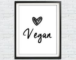 vegan home decor vegan print etsy