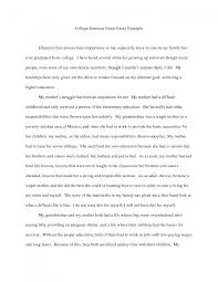 college entry essay sample college application essay format
