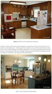 Updating Oak Kitchen Cabinets From To Great A Tale Of Painting Oak Cabinets