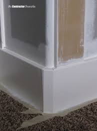 Where To Nail Chair Rail How To Cut Baseboard For A Rounded Corner The Contractor Chronicles