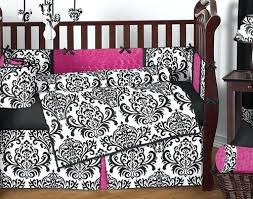 Pink And Brown Damask Crib Bedding Black And White Damask Baby Bedding Shopsonmall
