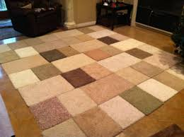 Make Your Own Outdoor Rug by Diy Area Rug Made From Carpet Samples And Duck Tape 10ft X 9ft