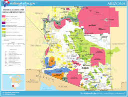Arizona Maps by Map Of Arizona Map Federal Lands And Indian Reservations