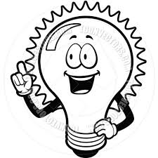 Light Bulb Clipart Christmas Bulb Black And White Clipart 1968750