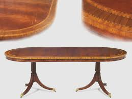 mahogany dining table formal oval inlaid mahogany dining table with leaves double