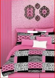 Pink Zebra Comforter Set Full Amazon Com Black U0026 Pink Polka Dots Teen Girls Full Comforter
