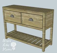 how to build a table with drawers ana white entry table diy projects