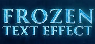 disney u0027s frozen text effect in photoshop iceflowstudios