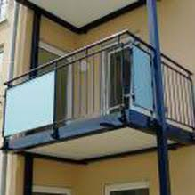 glas f r balkon steel railing glass panel outdoor for balconies balfor