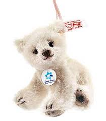 steiff flocke alpaca polar ornament 036309