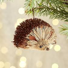 buri hedgehog ornament crate and barrel